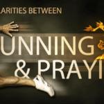 running praying