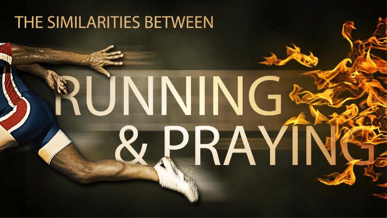 running-praying