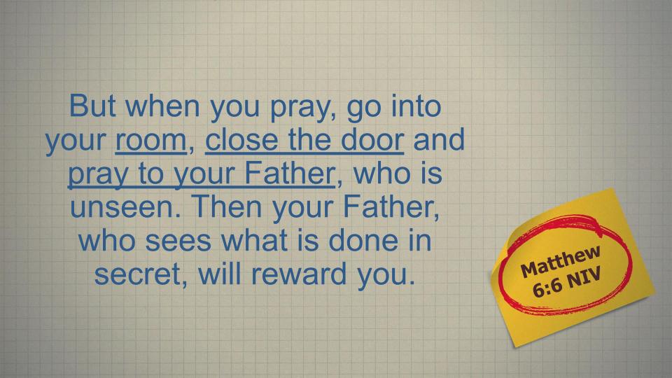 Matthew 6 6
